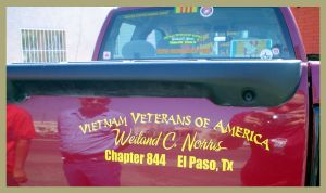 Custom Vietnam Veterans vinyl decal.