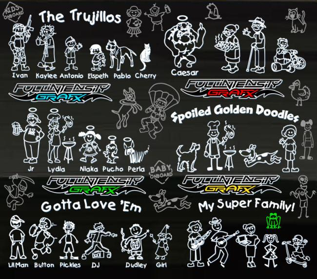 family sticker assorted designs