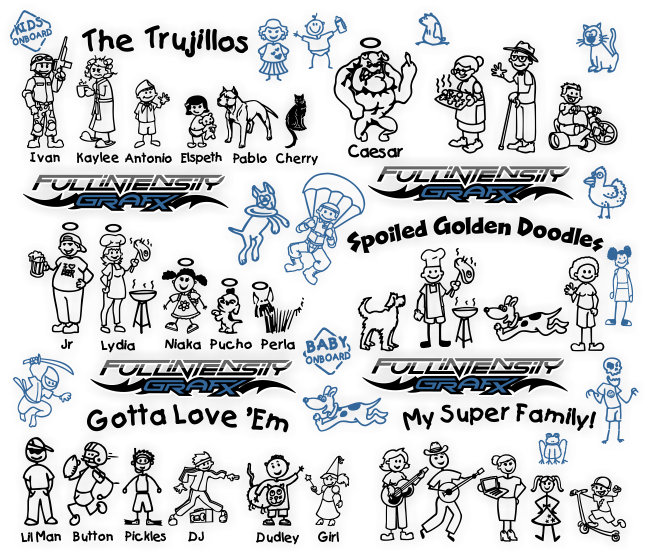 family stickers all