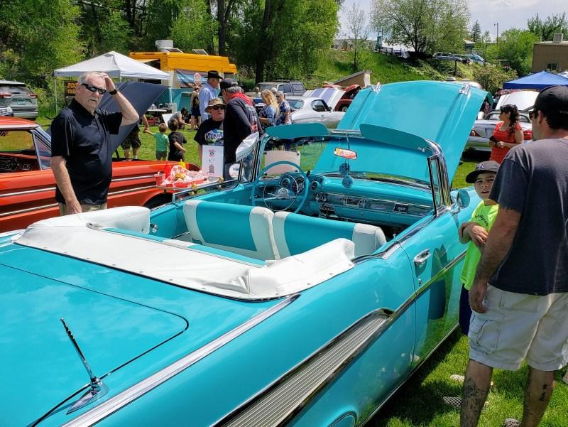 Light blue Chevrolet Bel Air