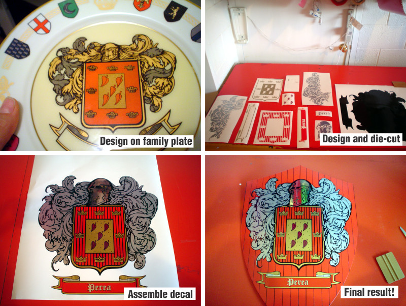 Coat of arms custom shield decals