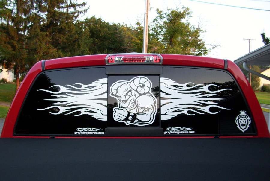 Dodge Ram Truck Fear Me back window decal
