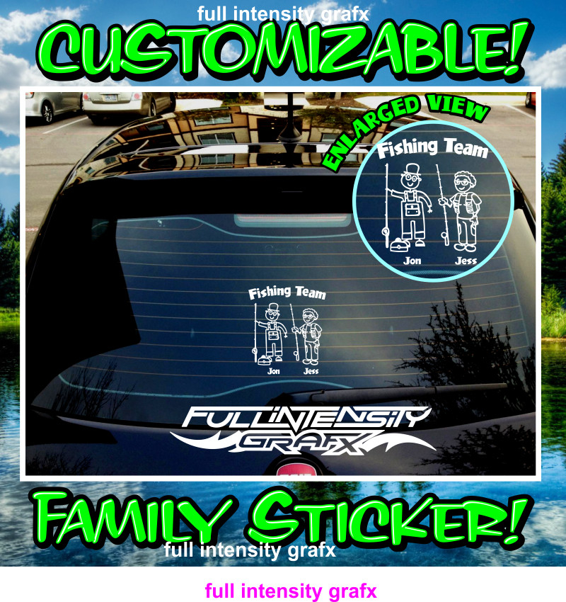 grandpa grandma family sticker