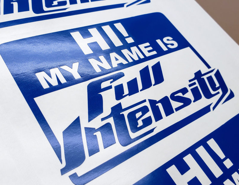 Full Intensity Grafx Name Tag Decal