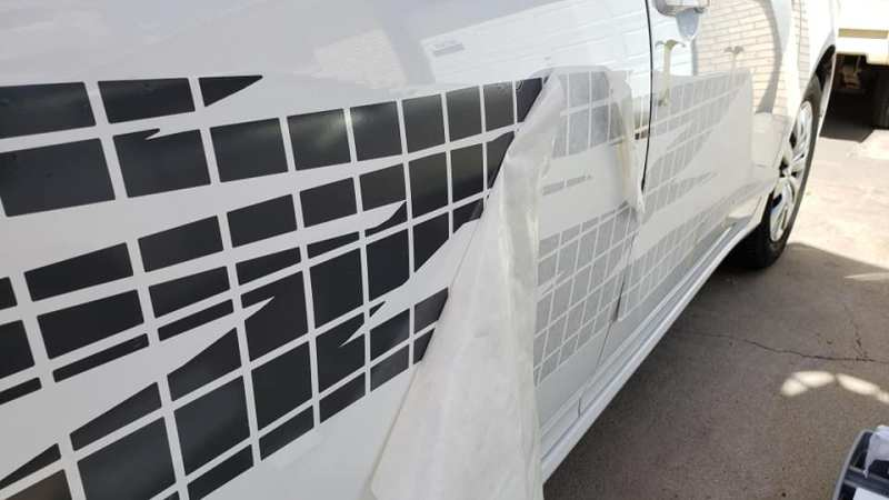 Peel decals application tape. Easy how-to application of car decals