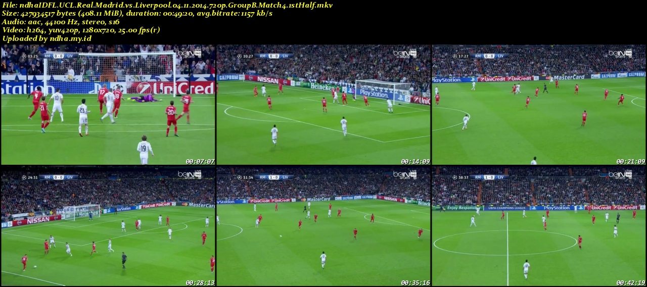 Fullmatch Champions League Real Madrid vs Liverpool Group B (04-11-2014)