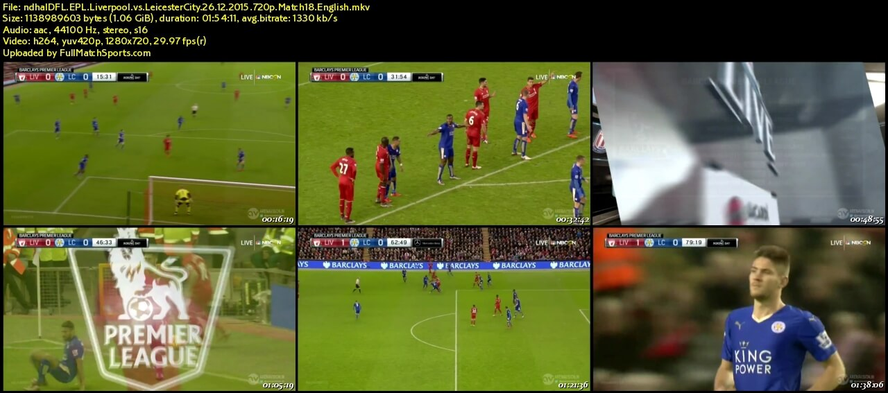 FULL MATCH EPL Liverpool vs Leicester City EPL 2015-2016