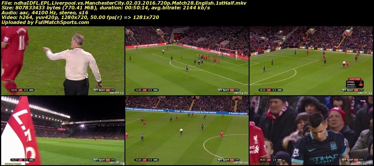 FULL MATCH Liverpool vs Manchester City 2016