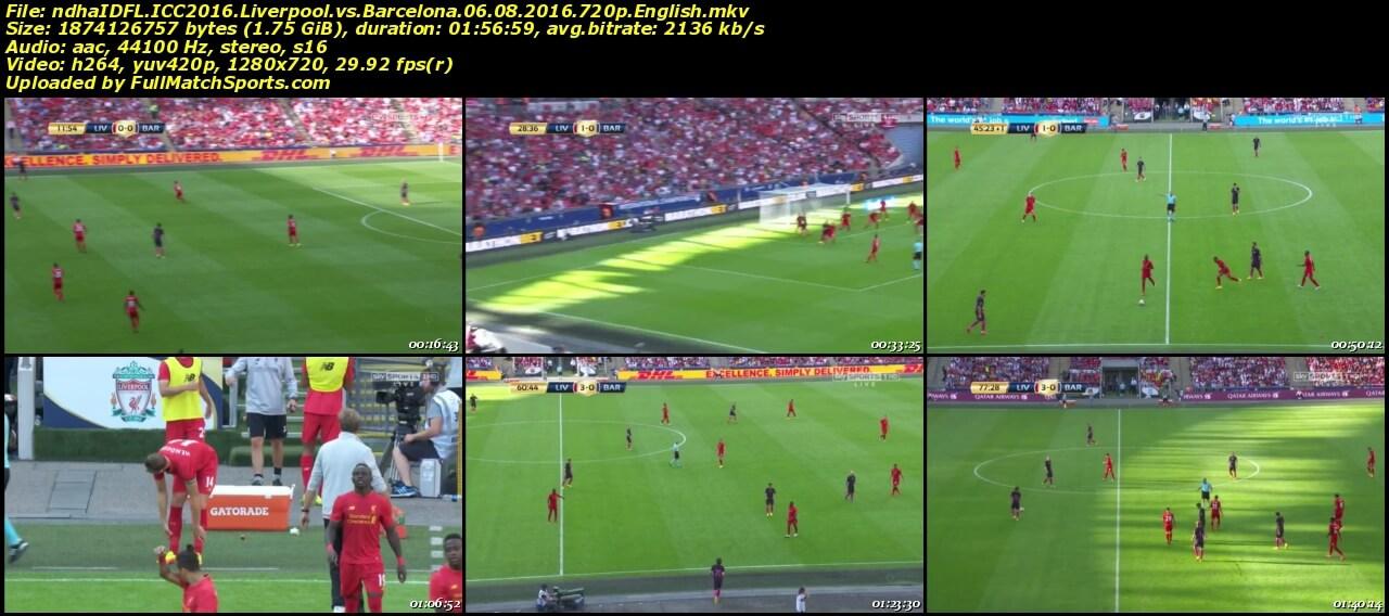 Full Match Liverpool vs Barcelona ICC 2016 • fullmatchsports.com
