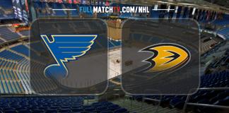 St. Louis Blues vs Anaheim Ducks