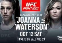 UFC Fight Night 161 Jedrzejczyk vs Waterson