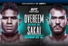UFC Fight Night Overeem vs Sakai