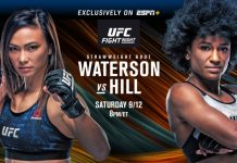 UFC Fight Night Waterson vs Hill