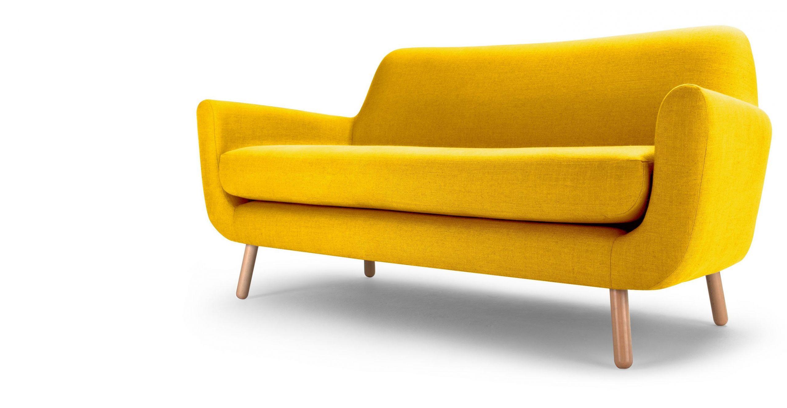 canape convertible jaune canape