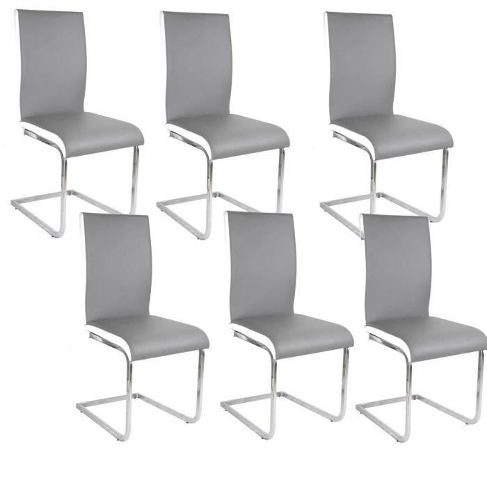 chaise but promo lea lot de 6 chaises