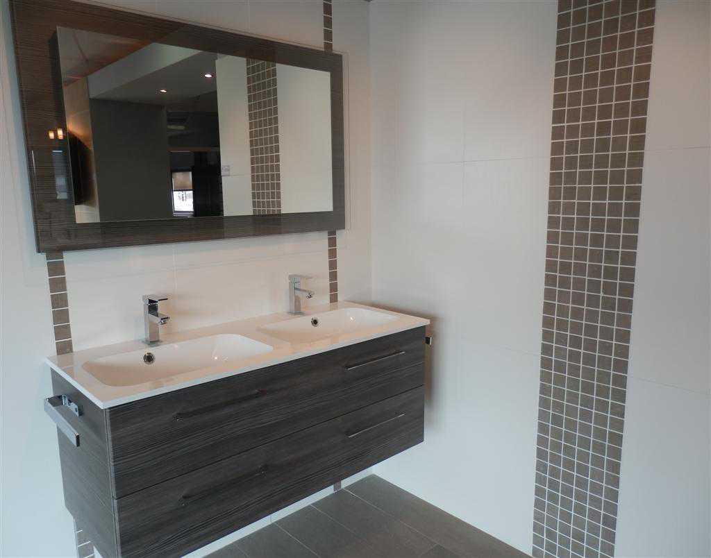 salle de bain gris blanc meuble salle