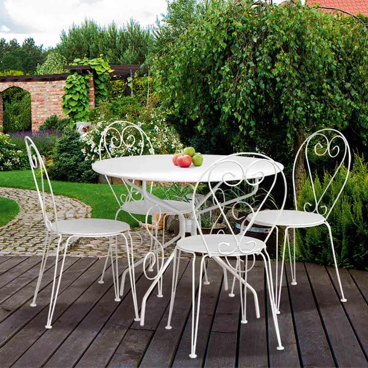 salon de jardin table ronde salon de
