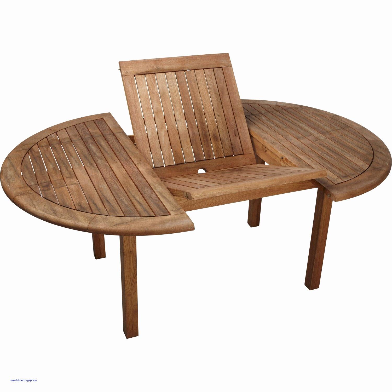 pas cher table ronde en bois exterieur