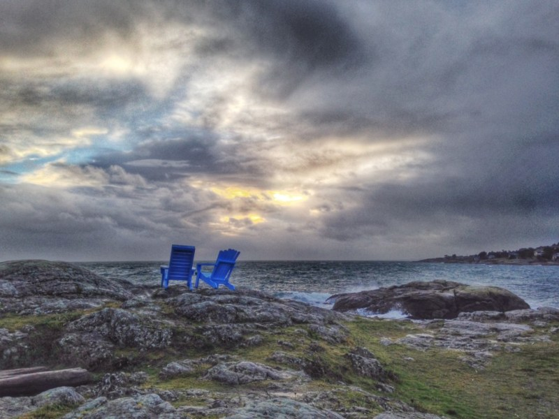 A photo I took in Victoria. I knew of these chairs and the day I first cycled to them was a huge moment of pride for me.