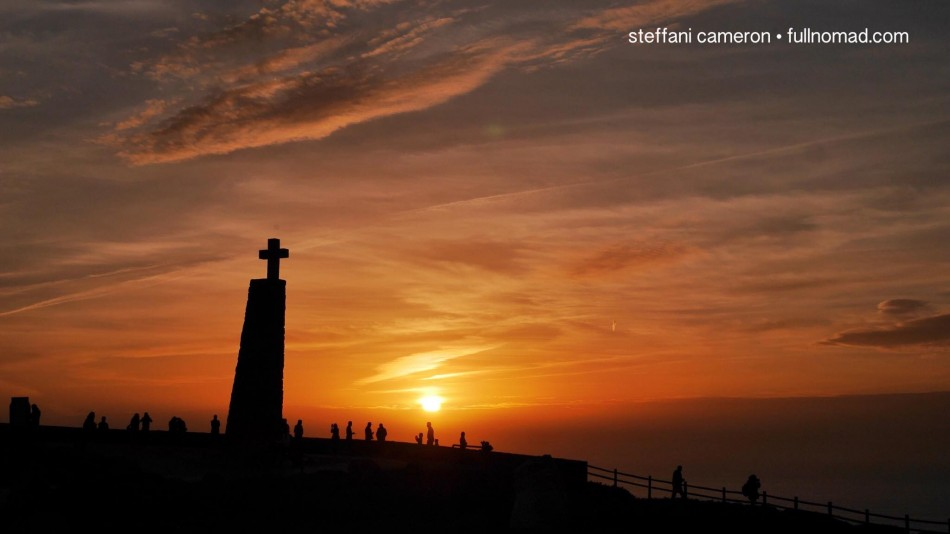 """One of those small moments I know has changed me. I can't describe how to you, but I hope to always remember how it felt to stand there at the """"edge of the world"""" that glorious December day in Portugal. Cabo da Roco."""