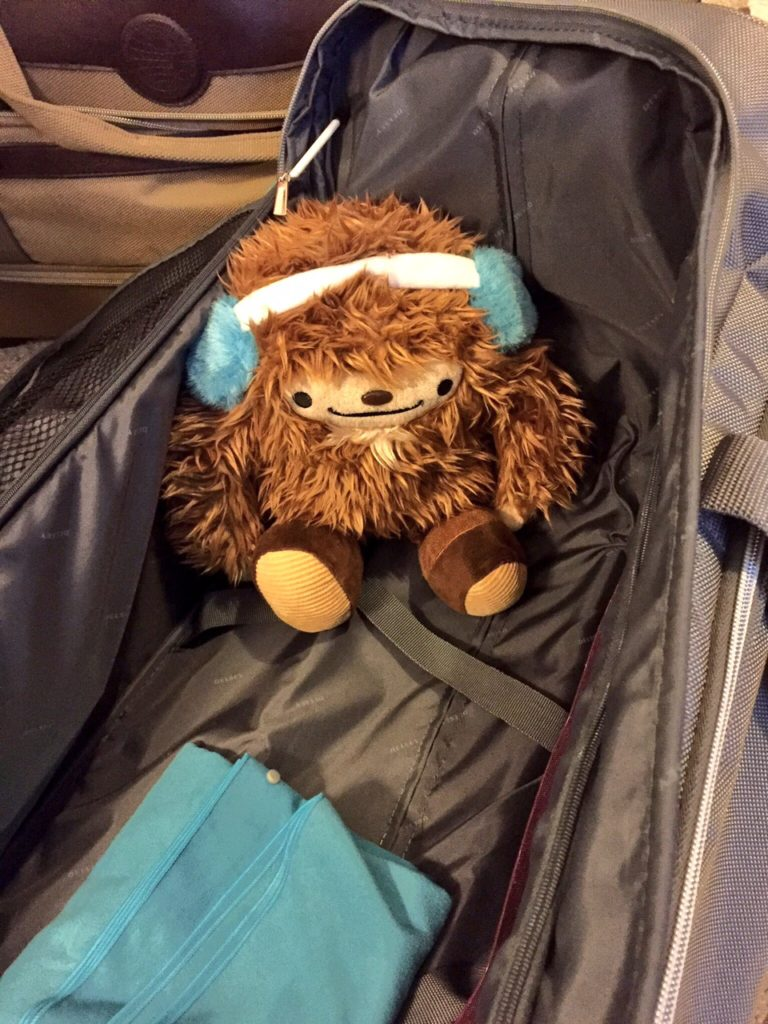 Arguably the only item of value ever left in my check-in luggage is my beloved Quatchi. Sorry, Quatchi. :(