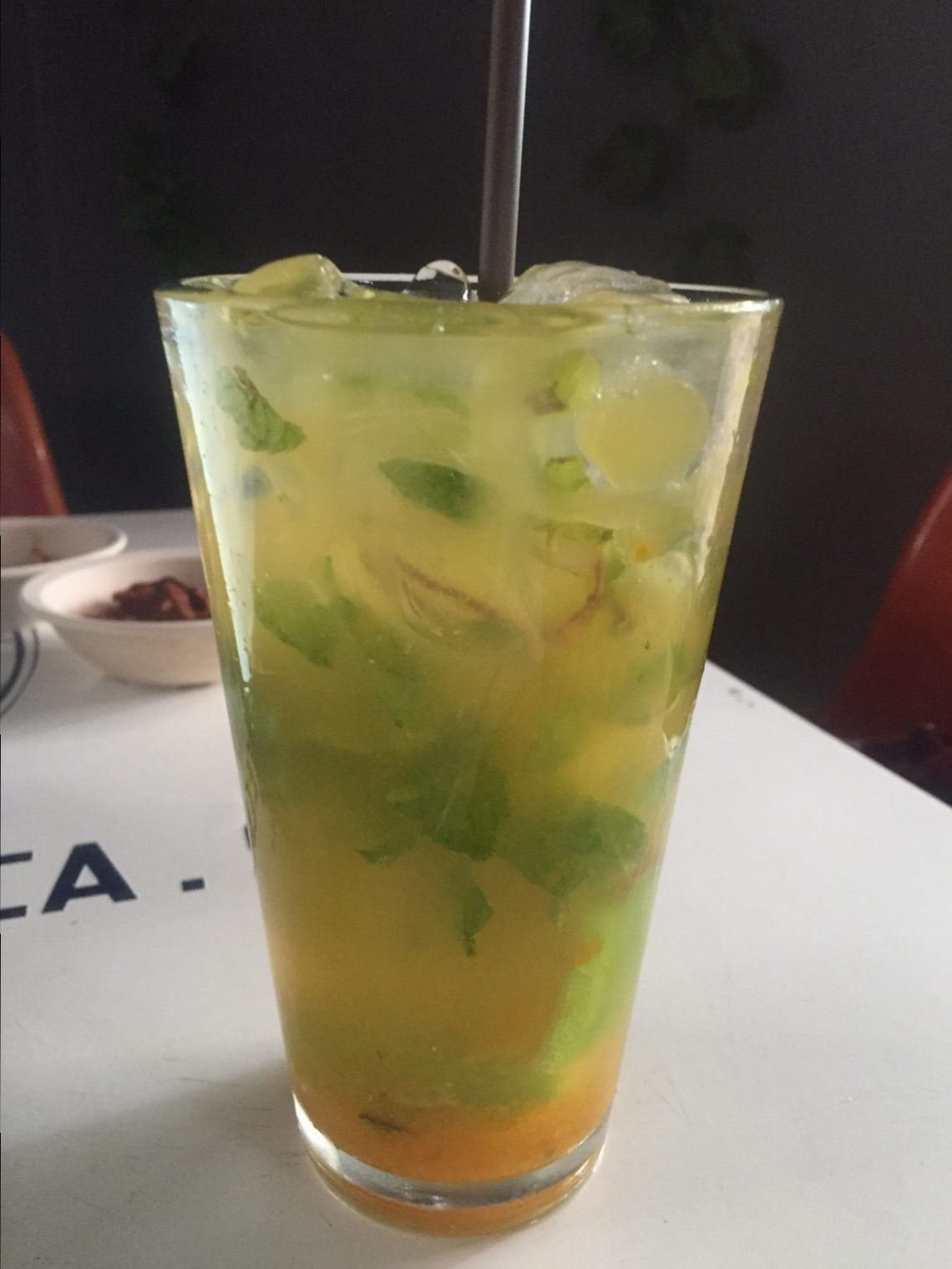 For someone who doesnt really, like mango, this was one of the best cocktails ever -- mango mojito, Negrita-style.