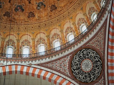 The incredible artwork inside 500-year-old Suleiman Mosque in Istanbul.