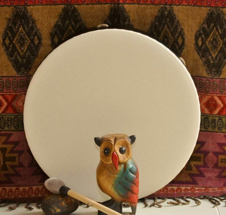 Ceremonial owl with drum