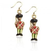 Nutcracker Charm Earrings in Gold
