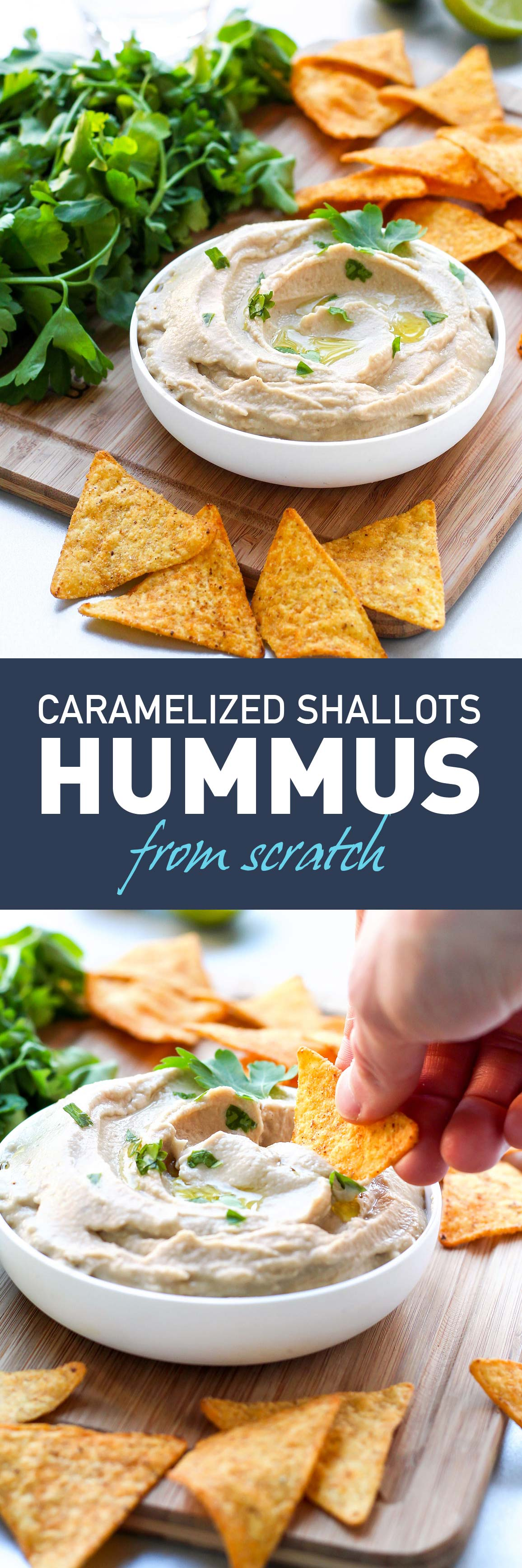 Smooth Caramelized Shallots Hummus