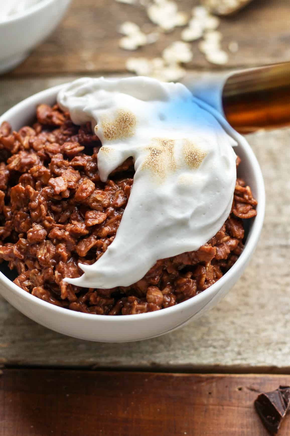 Vegan S'mores Chocolate Oatmeal