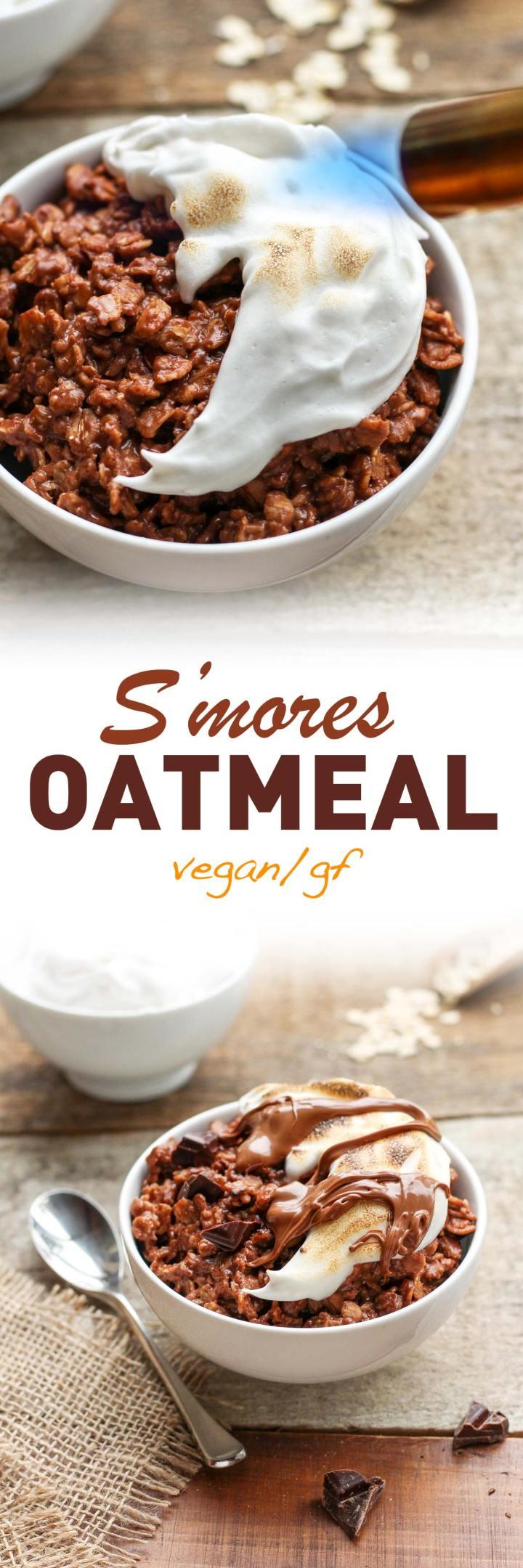 Vegan S'mores Chocolate Oatmeal