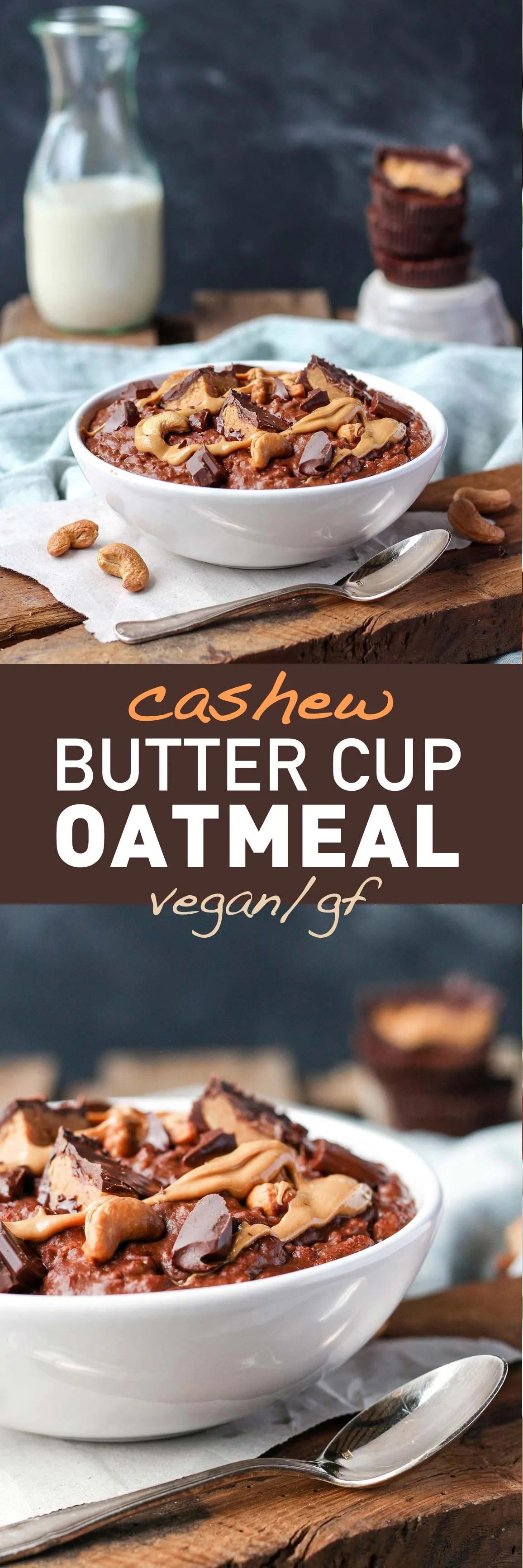 Cashew Butter Cup Oatmeal