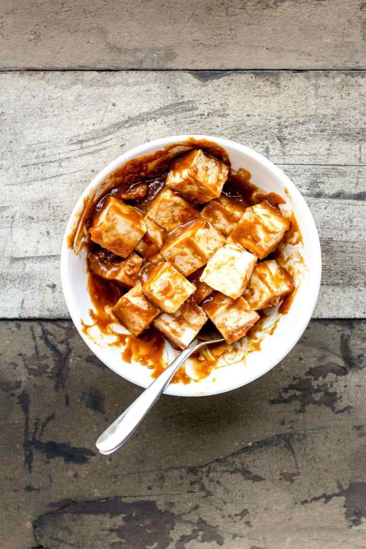 Almond Butter Tofu Skewers