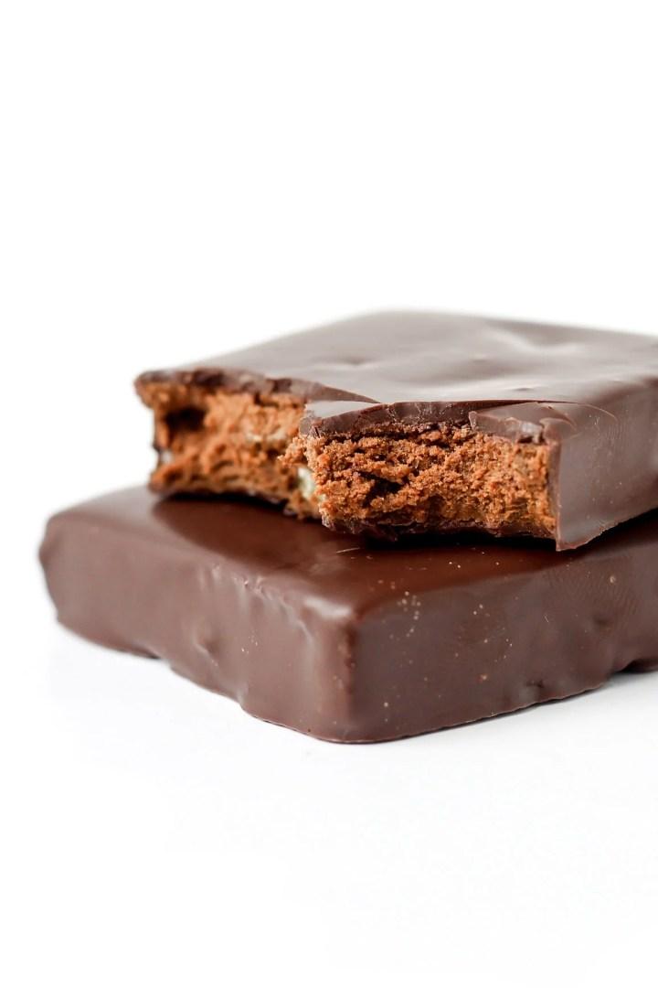 Vegan Almond Chocolate Protein Bars