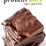Chocolate Almond Protein Bars (Vegan + GF!)