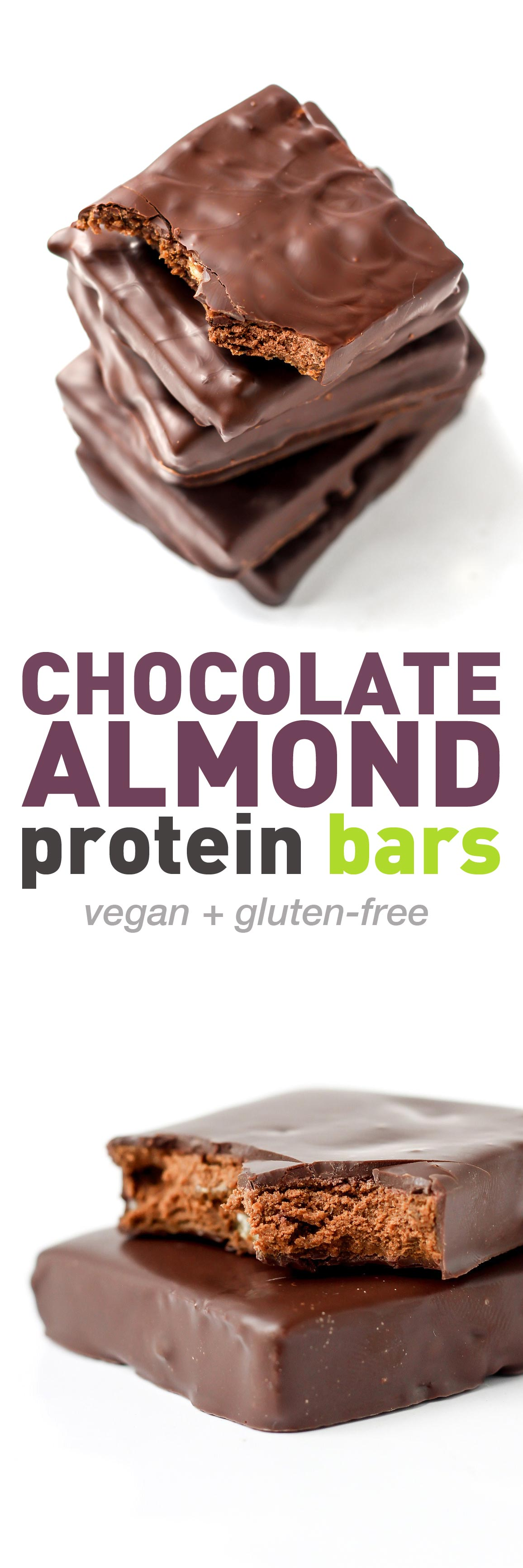 Vegan Almond Chocolate Protein Bars