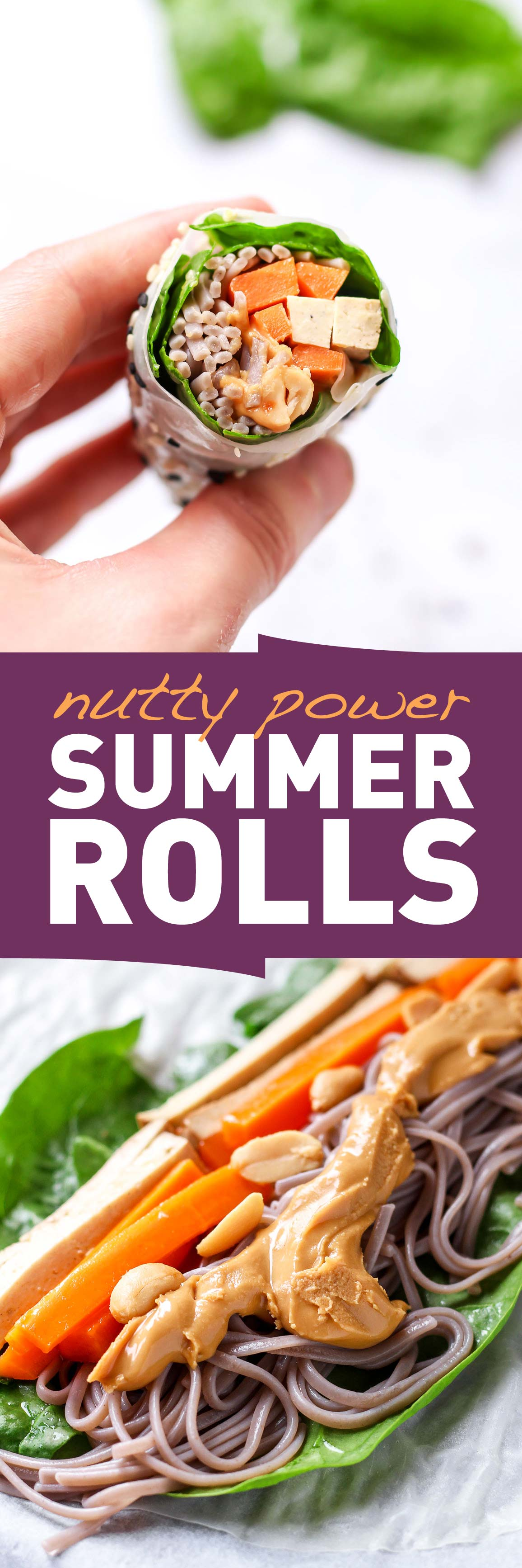 Vegan Nutty Plant Power Summer Rolls