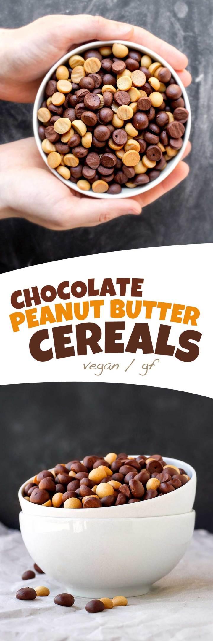 Homemade Vegan Chocolate Peanut Butter Cereals