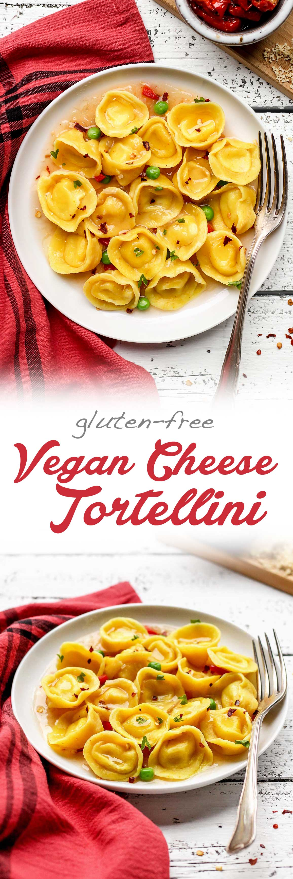 Vegan Cheese and Basil Tortellini
