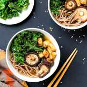 Lemongrass Soup with Sauteed Kale