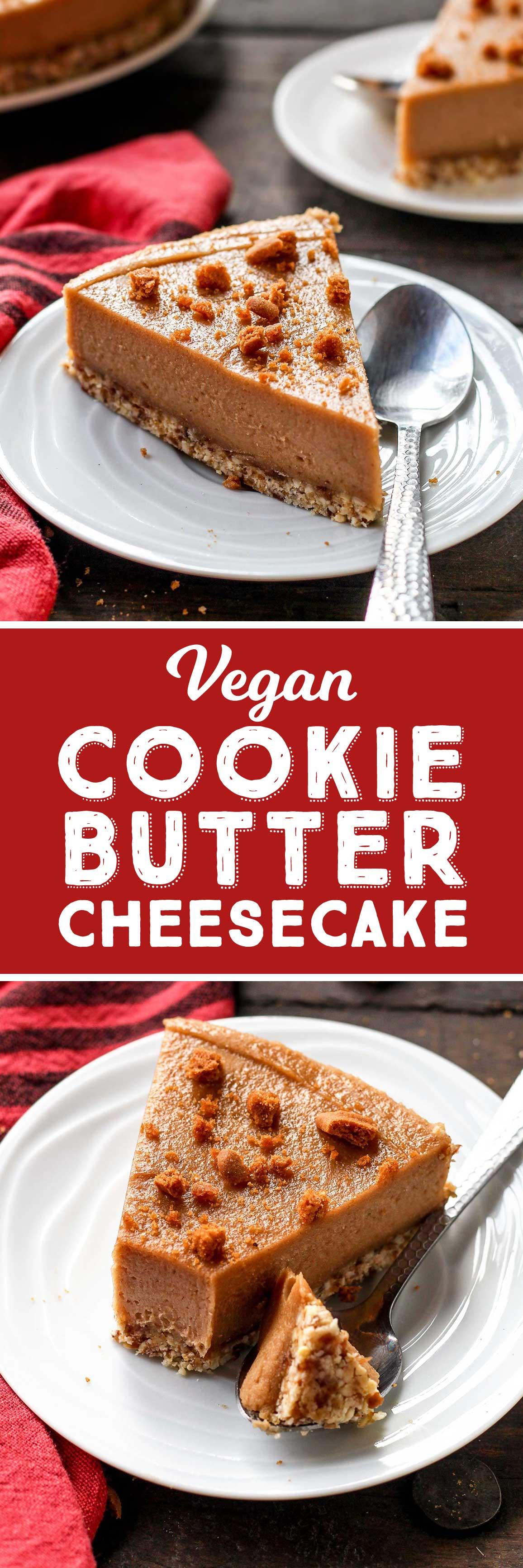 Vegan Cookie Butter Cheesecake