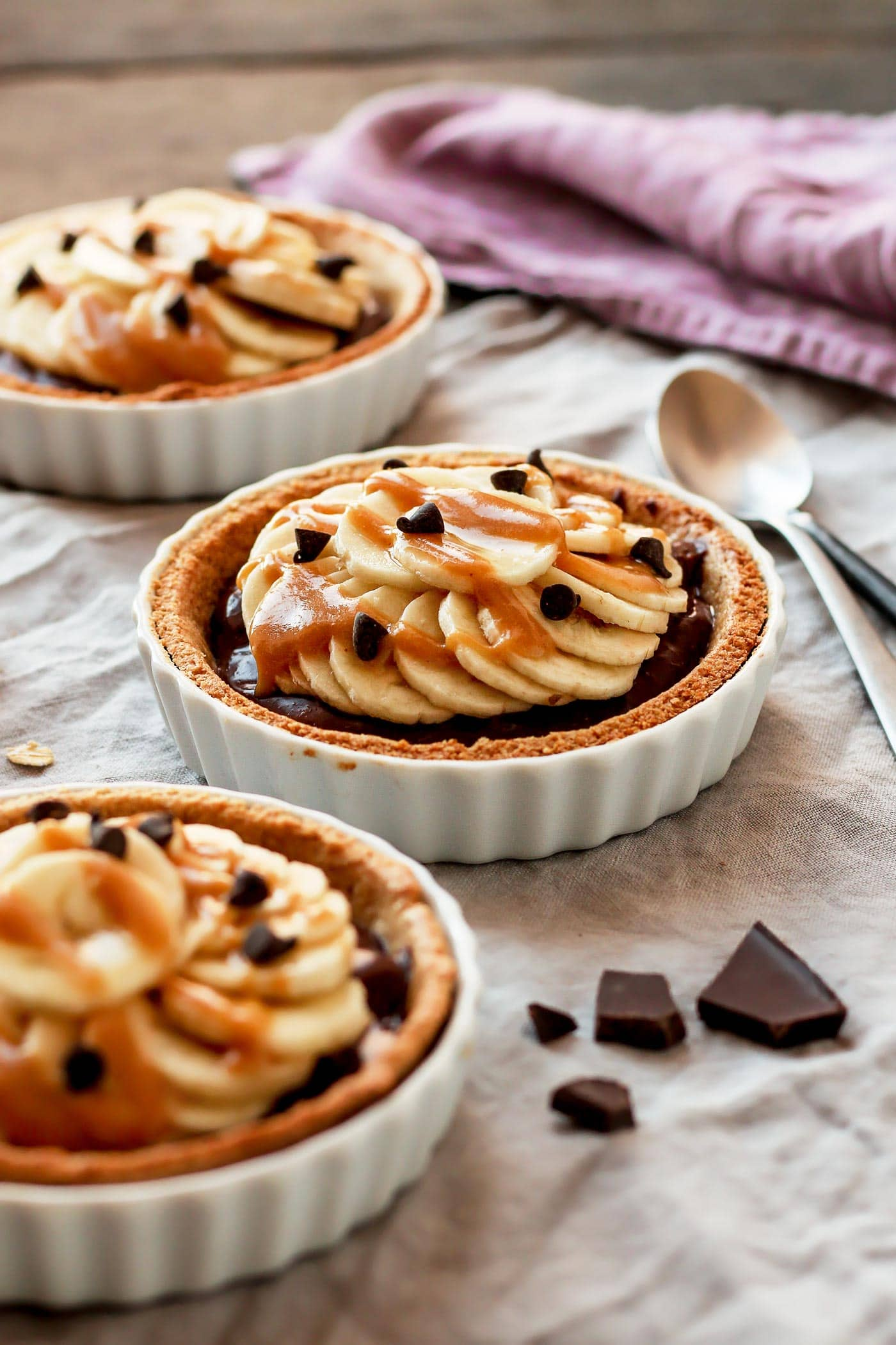Chocolate Banana Breakfast Tartlets