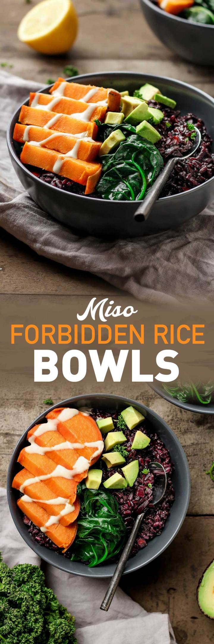 Miso Forbidden Rice Bowls