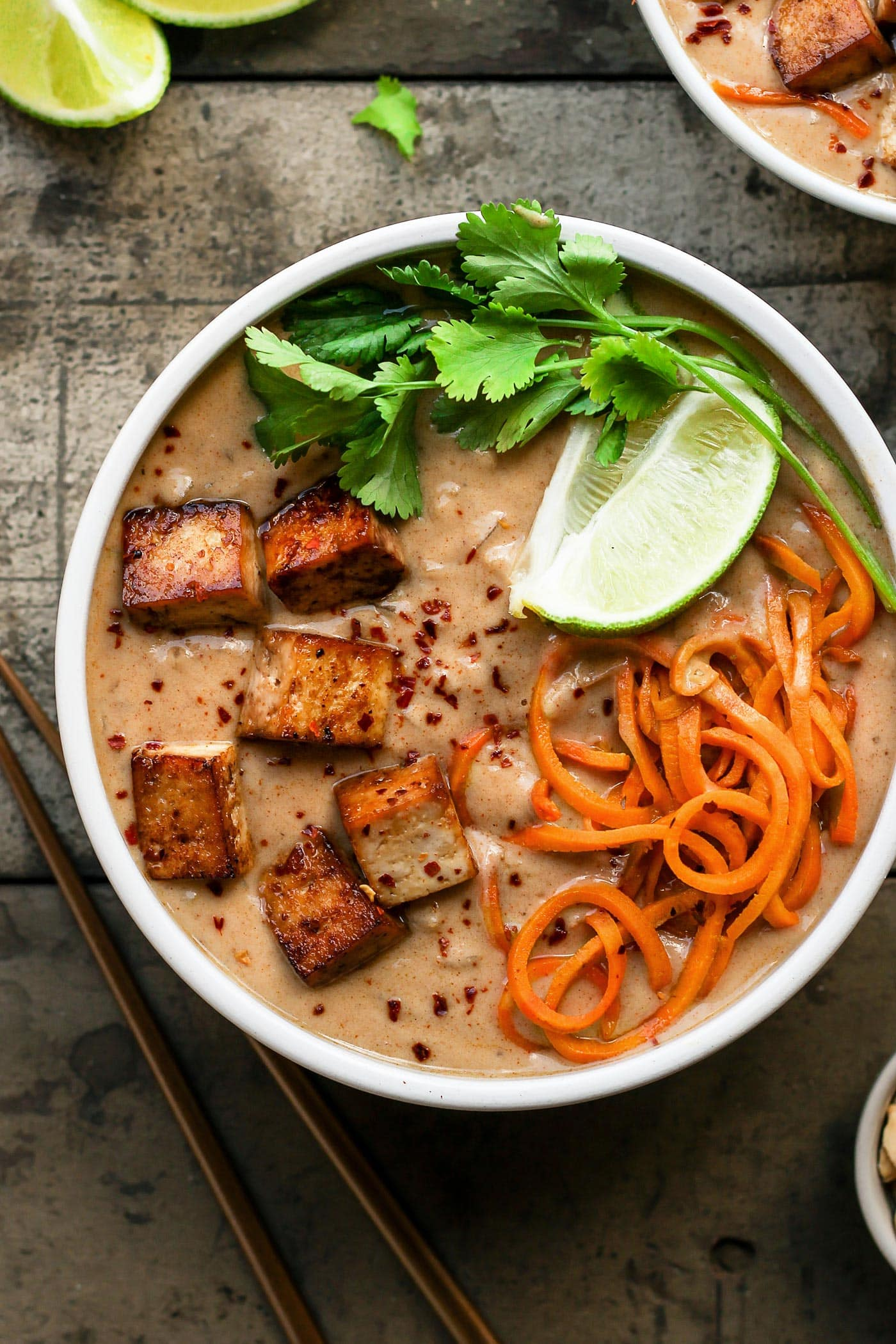 Thai Sweet Potato Noodles Soup (30 minutes)