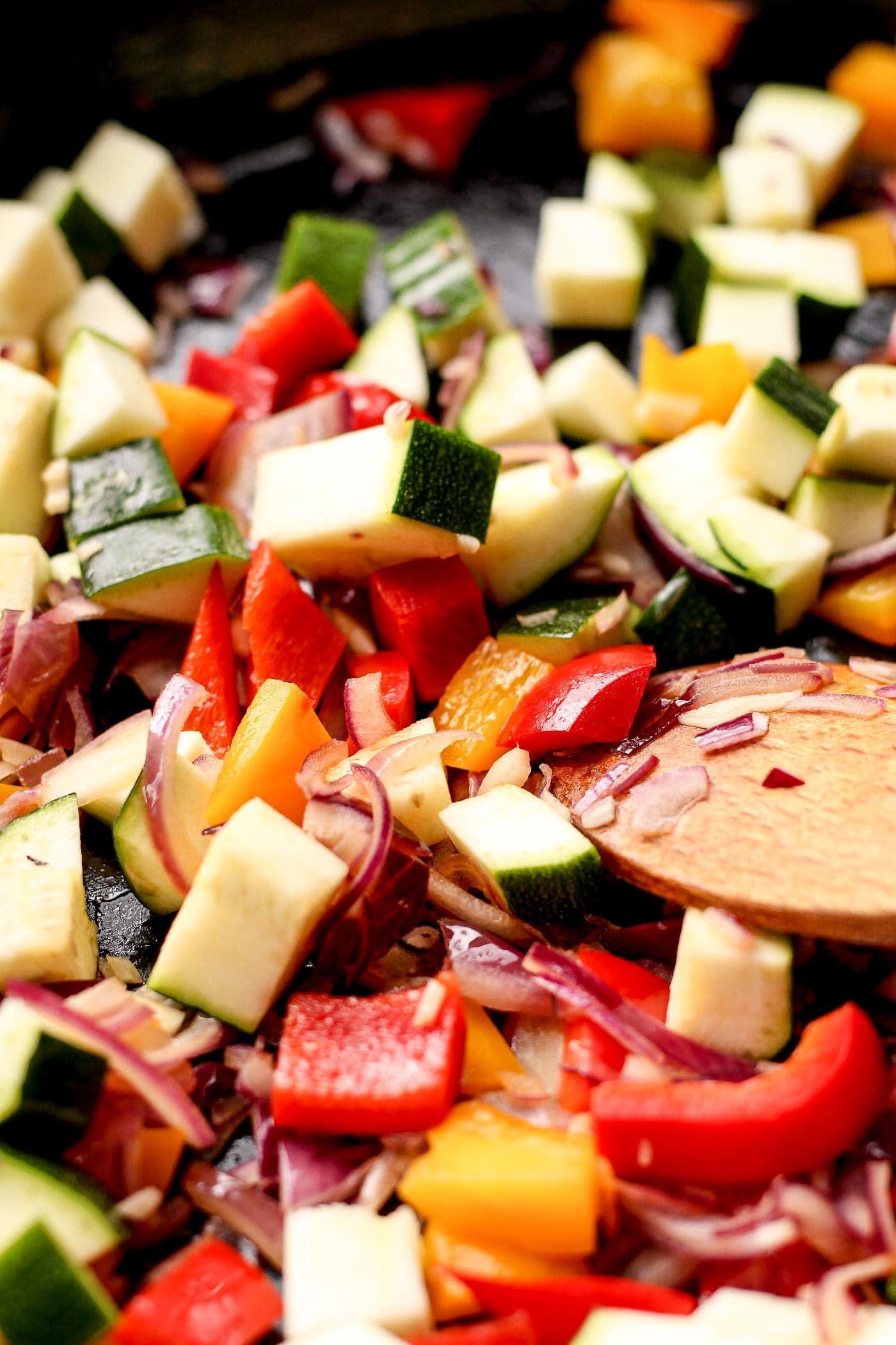 Vegan Mediterranean Breakfast Skillets