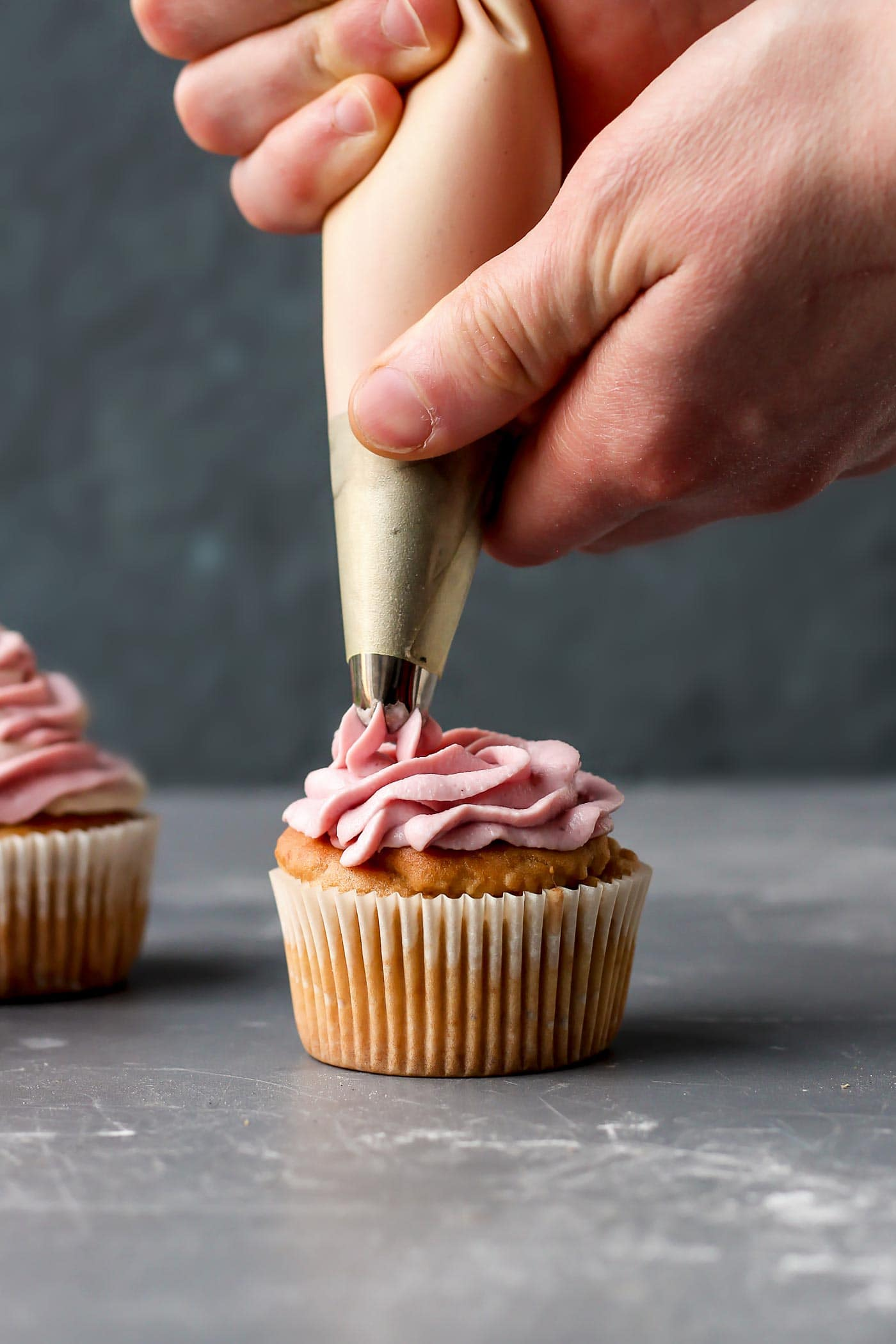 Fluffy Vegan Rose Cupcakes