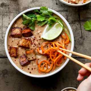 Thai Sweet Potato Noodles Soup