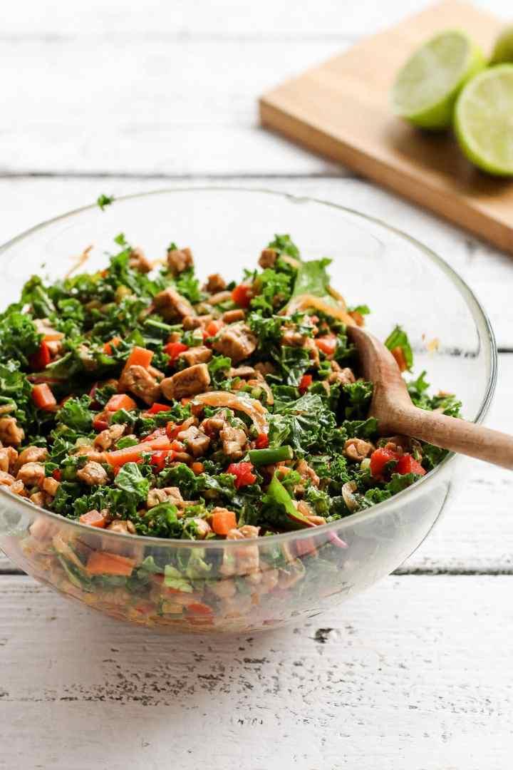 Refreshing Marinated Tempeh Salad