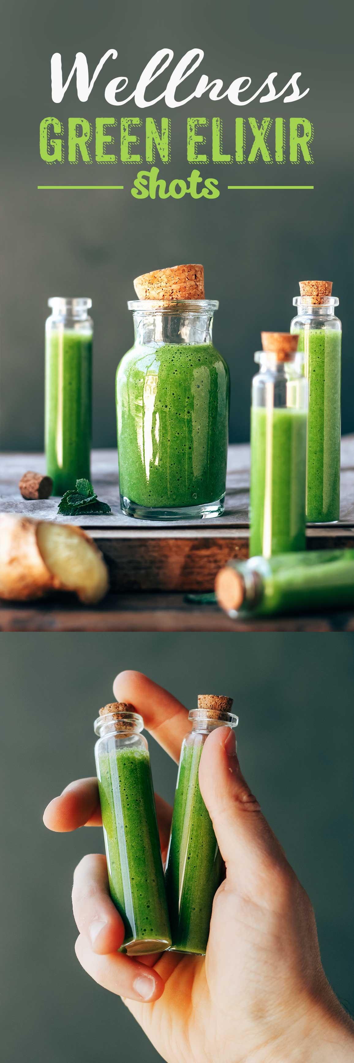 Wellness Green Elixir Shots
